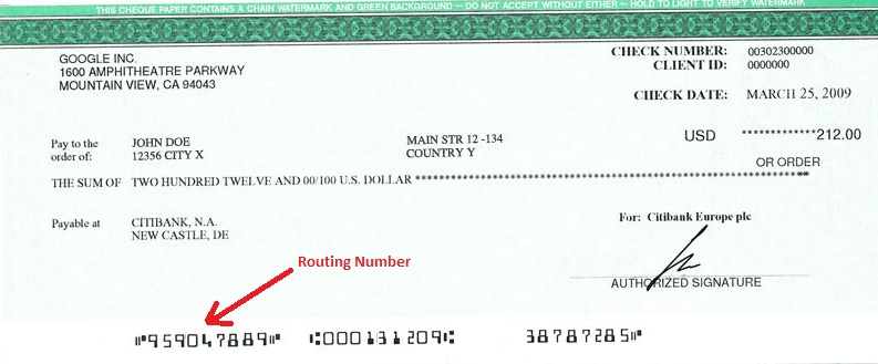 Where is Account Number on a Check
