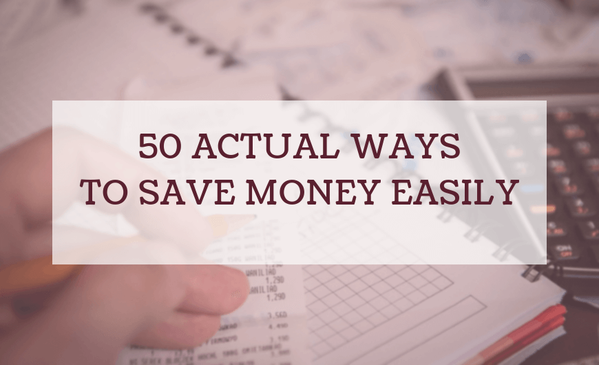 Ways to Save Money Fast