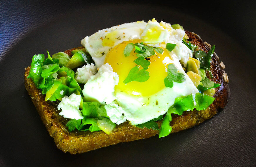 Avocado, Cheese and Egg Toast