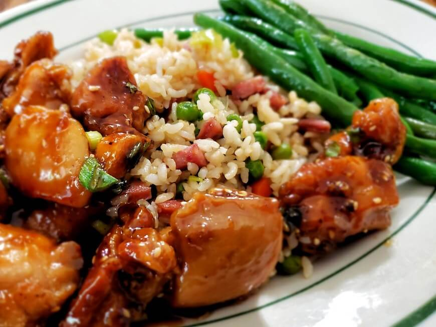 Chicken with Fried Rice for Big Families