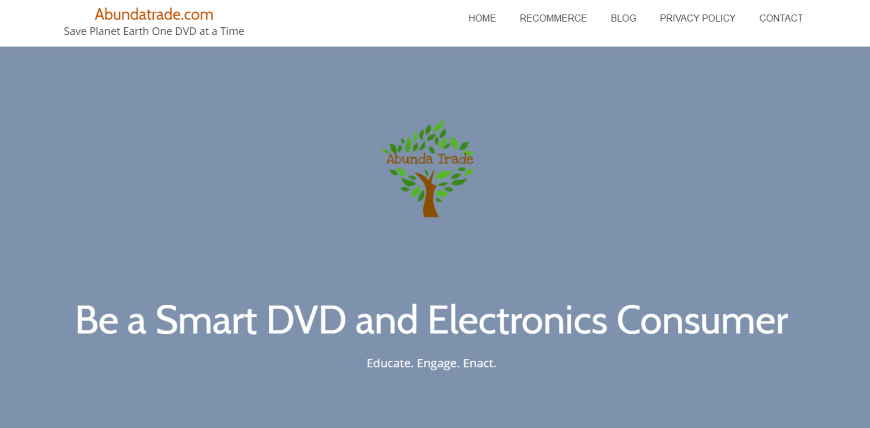 Abundatrade - for used DVDs and electronics