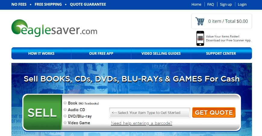 EagleSaver - buy and sell DVDs, Blu-Rays, books