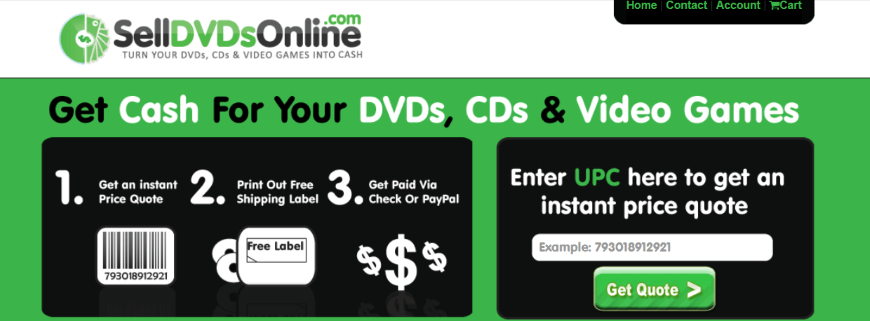 SellDVDsOnline for your DVDs
