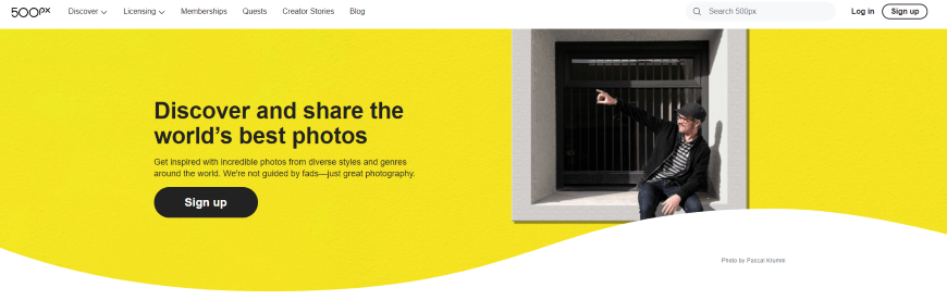 Sell Your Photos at 500px Online