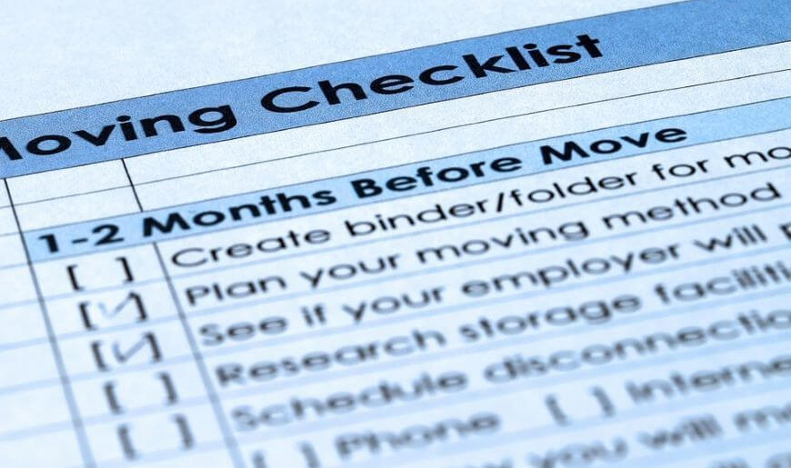 cheapest way to move across country checklist