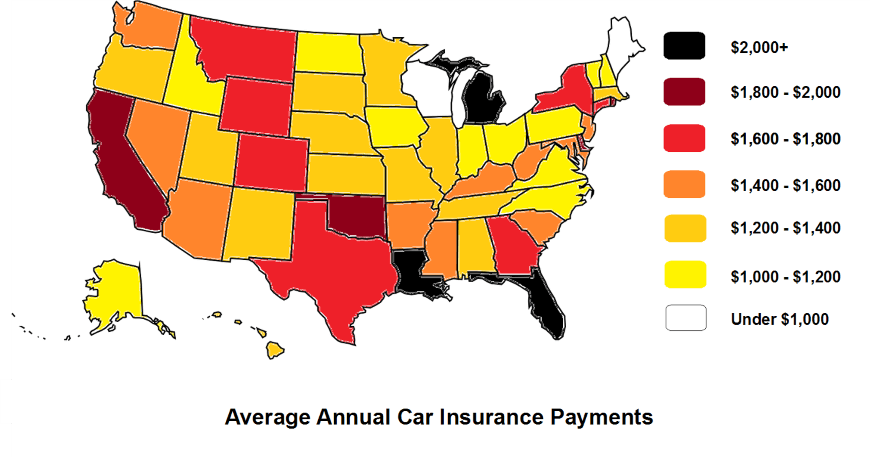 Average Annual Car Insurance Payments