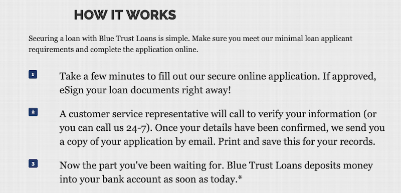 BlueTrustLoans.com Apply