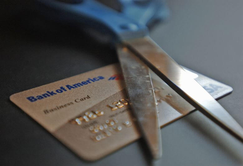 how to lower credit card interest rate scissors
