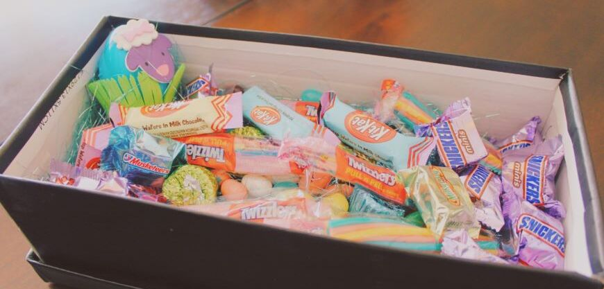 cheap easter basket ideas candy box