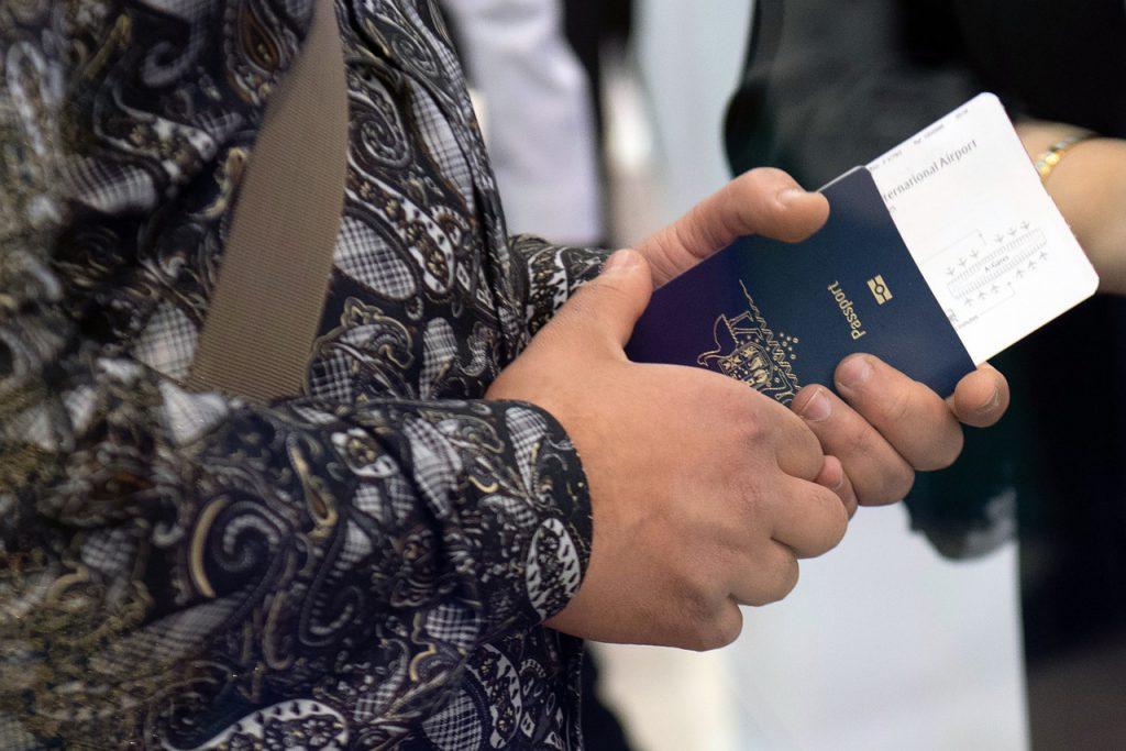 passport plane ticket