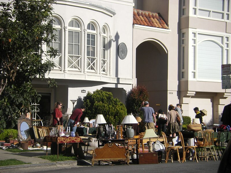 garage sale of unwanted items