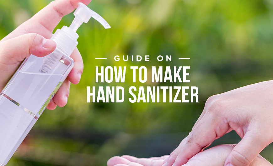 K34 Guide On How To Make Hand Sanitizer