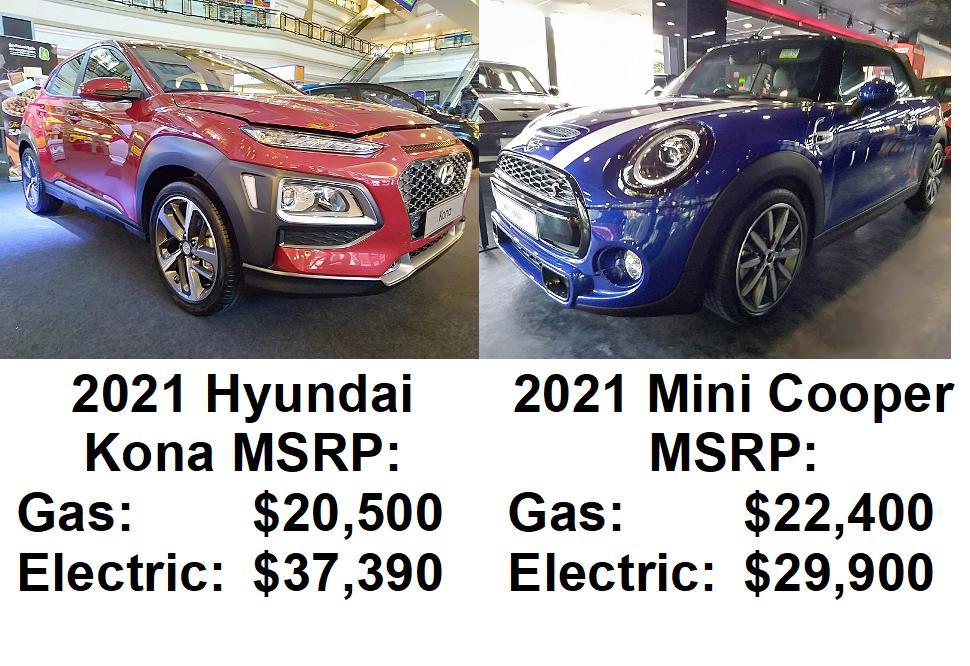 comparing electric car cost vs gas
